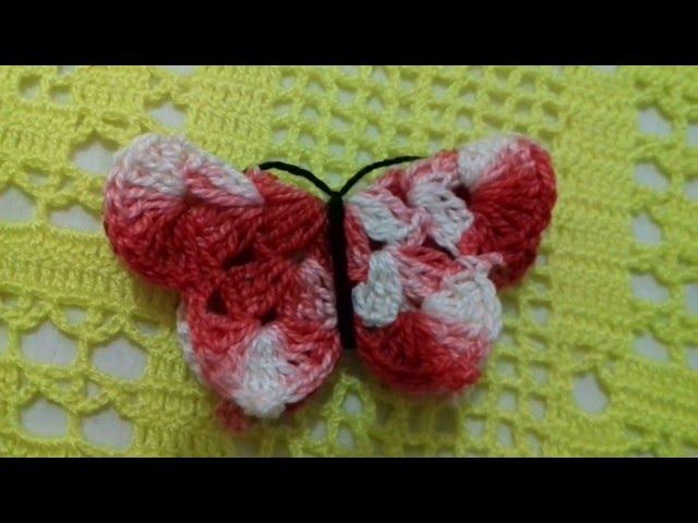 Arte Brasil Tapete Cinderela : Borboleta em Croch?, Para aplicar em tapetes / Cristina coelho alves