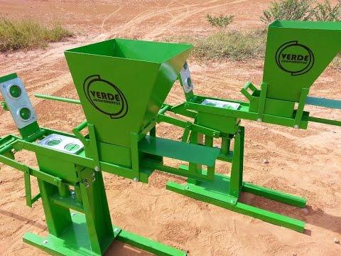 Máquina de Tijolo Ecológico Verde Equipamentos