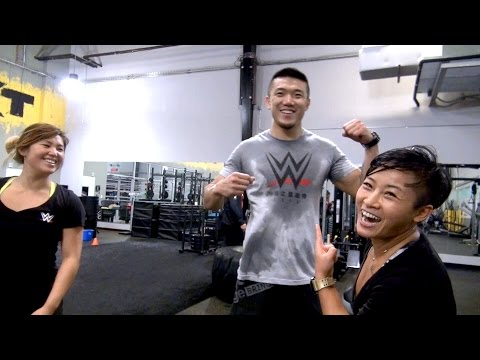 watch WWE's newest Chinese signees break a sweat with a grueling workout