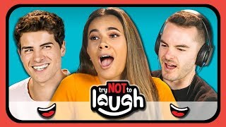 Try To Watch This Without Laughing or Grinning #6 (ft. YouTubers) (REACT)
