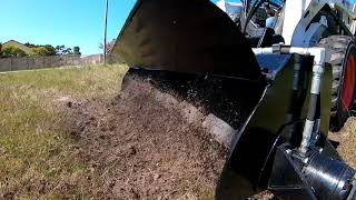 Himac Attachments - Skid Steer Rotary Tiller In Action