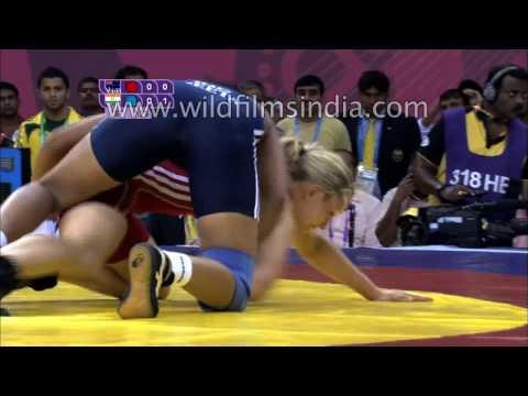 Geeta Phogat gets gold, wins Women's 55 kg freestyle wrestling bout!