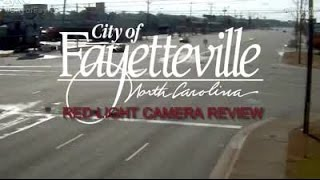 Fayetteville red light camera program update (Video from city of Fayetteville)