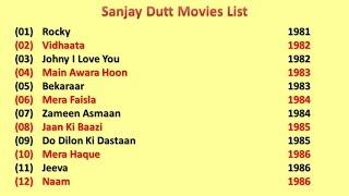 Sanjay Dutt Movies List