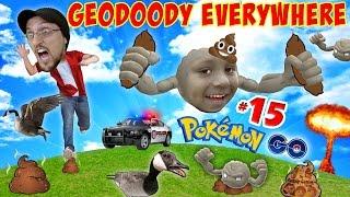GEO-DOODEY MINES!  Poop Explosion + ♫ HITMONCHAN ♫ + POLICE?!?! (FGTEEV POKEMON GO Part 15)