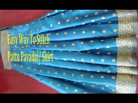 Skirt Stitching | How To Stitch Skirt /pavadai | Pattu Pavadai Stitching
