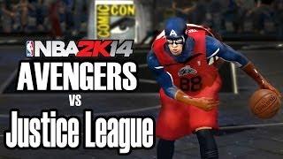 Avengers Civil War 2016 Vs. Justice League NBA 2K14 Mod HD + Download