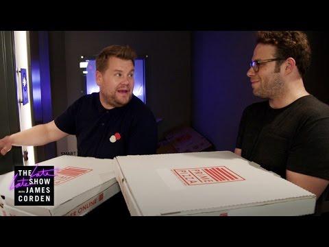 Mystery Pizza Box w Seth Rogen & Dominic Cooper