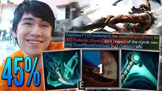 45% CDR TRYNDAMERE WITH 1 ITEM ! SPIN EVERY OTHER AUTO !