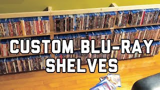 How To Build Custom Blu-ray/Media Shelving! | DIY Movie Room Project