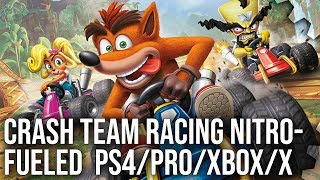 [4K] Crash Team Racing Nitro-Fueled: PS4/Pro vs Xbox One/X Tested + PS1 Graphics Comparison!