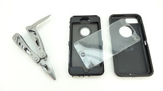 How To Remove The Built In Screen Protector From The Otterbox Defender Case!