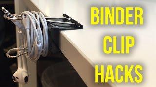 Binder Clip Life Hacks