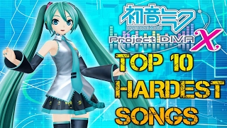 TOP 10 hardest songs in Hatsune Miku Project Diva X