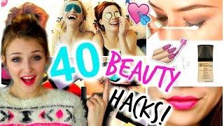 40 LAZY GIRL BEAUTY HACKS | Easy, DIY & More!
