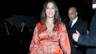 Ashley Graham Chats With Fans While Supporting Khloe Kardashian At PLT Opening