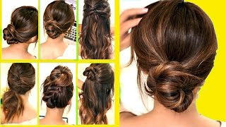 TOP 10 ★ LAZY - RUNNING LATE HAIRSTYLES & HACKS for FRIZZY HAIR - EASY! 💜  | Spring Peinados