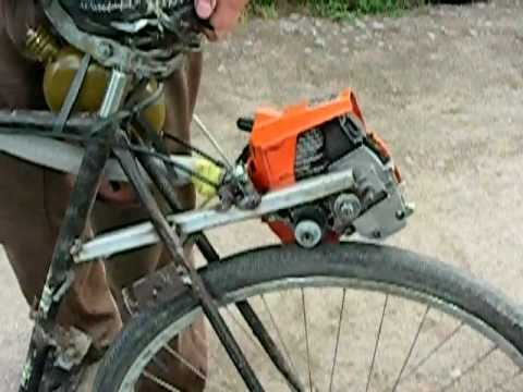 Как с велосипеда сделать мопед из