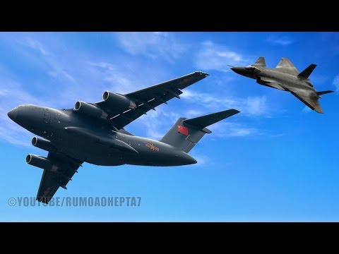 China Military Modernization: New J-20 Stealth Fighter and Y-20 Heavy Transport Aircraft
