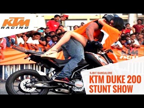 KTM Duke 200 Stunt show @ SJBIT Bangalore