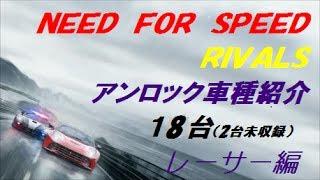 【18台紹介】ニード・フォー・スピード ライバルズ【PS4】NFSR/Need for Speed/18 units introduction