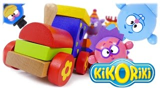 TRAINS FOR TODDLERS VIDEO: Train Kikoriki Educational Wood Toys Review for Kids