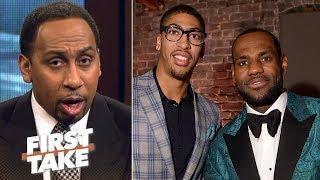Stephen A.: If Anthony Davis joins LeBron James, Warriors no longer favorite   First Take   ESPN