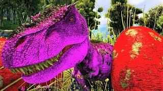 Bebê T-Rex Rejeitado Pelos Pais! Vida PERIGOSA! Dinossauros Ark Survival Evolved (PT/BR)