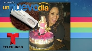 Carolina Sandoval festeja su cumpleaños y su embarazo   Un Nuevo Día   Telemundo