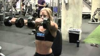Women's Physique Pro Dani Reardon Trains Shoulders at Powerhouse Gym Tampa