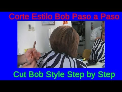 Corte Estilo Bob Mucho Cabello Paso a Paso Cut Bob Style Step by Step