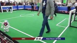 Nao-Team HTWK vs. SRC - Robocup Iran Open 2016
