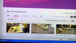 Shout Out To:  The MI Woodsman , He Lost His Channel Please Subscribe