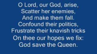 god save the queen + lyrics