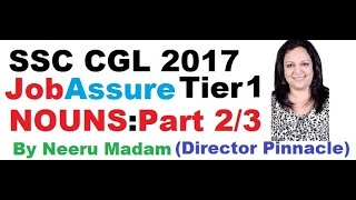 SSC CGL JobAssure Tier 1 program : Nouns part 2/3 English medium by Neeru madam