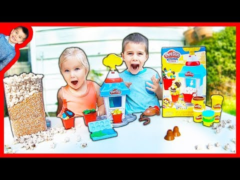 Play Doh Kitchen Creations Popcorn Party Fun