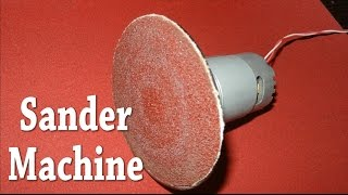 How to make a Disc Sander using old CD