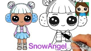 How to Draw Snow Angel | LOL Surprise Doll