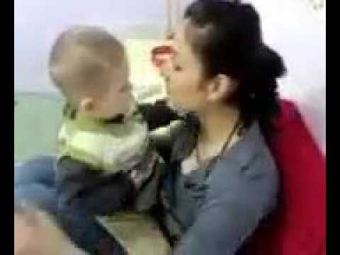 Kissing Baby funny video download