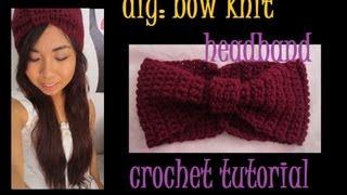 Download DIY: Bow Knit Headband Crochet Tutorial 3Gp Mp4