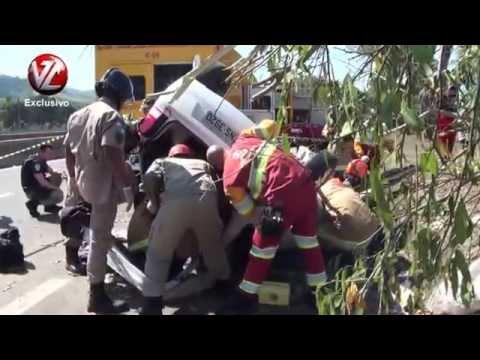 TV A Voz da Cidade Acidente deixa três feridos na Via Dutra