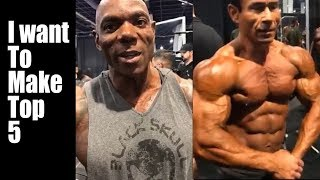 FLEX WHEELER speaks moments before stepping on stage MR OLYMPIA 2017