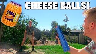 SHOOTING CHEESE BALLS!