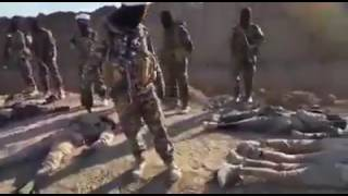 Isis fighters bodies are every where ! After a heavy clash with huzbullah aliraqi!