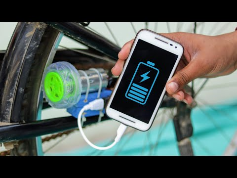 How To Charge Your Mobile With Bicycle - Free Energy