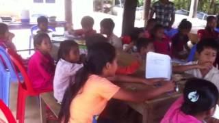 Srey Nak is teaching English at Preah house church