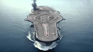 Ken block drifting BMW m4 on aircraft