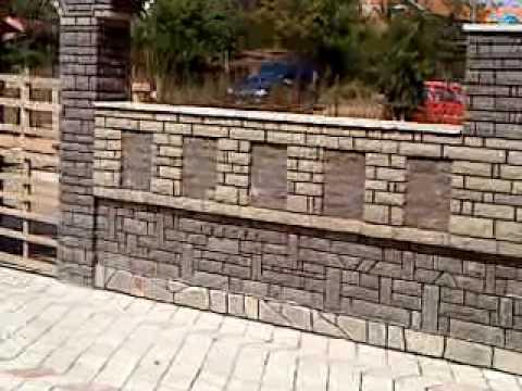 Buka prej gurit muri dhe dyert e oborrit me gure