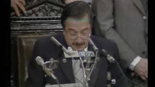 Asunción Alfonsin- Primer discurso de Dr Alfonsín como Presidente de la Nación.-