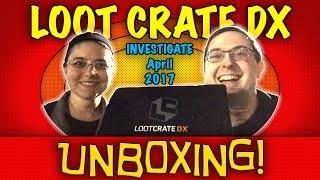 UNBOXING! Loot Crate DX April 2017 - Investigate - #Batman #JessicaJones